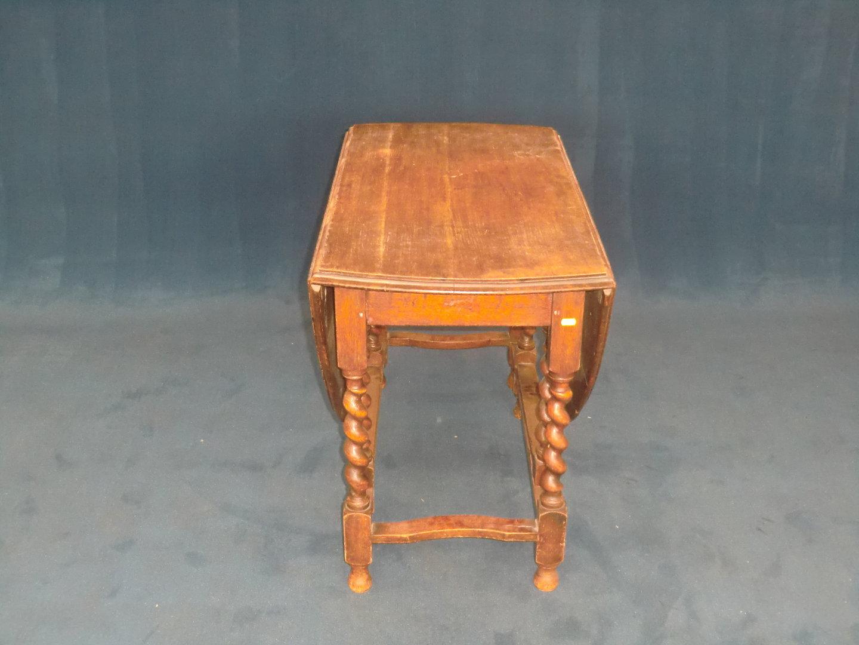 Gateleg Tisch.Englischer Gateleg Tisch Eiche Oval Zweiseitig Klappbar Ca