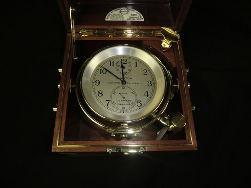 Chronometer Hamilton 21 Lancaster US Maritime Commission